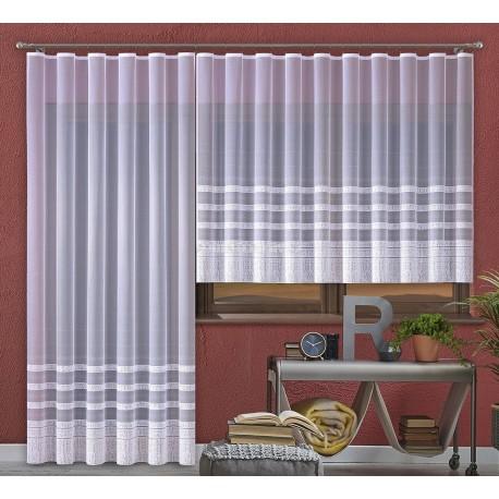 Hotová záclona Karolína na okno a balkónové dveře