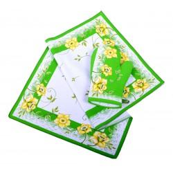 Utěrka bavlněná Narcis zelený