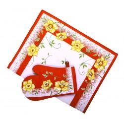 Utěrka bavlněná Narcis červený