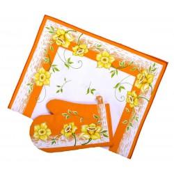 Utěrka bavlněná Narcis oranžový