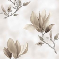 Dekorační látka Magnolie šedobéžová