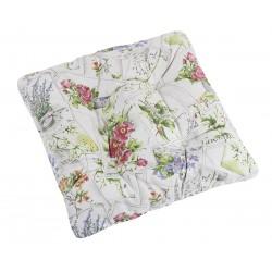 Sedáky na židle EMA květinová pohlednice více variant