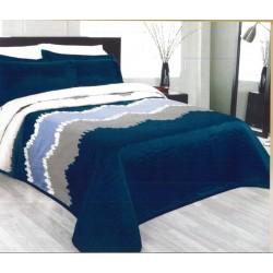 Přehoz na postel Celine modrý