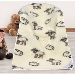 Vlněná dětská deka 100x150cm ovečka - evropské merino