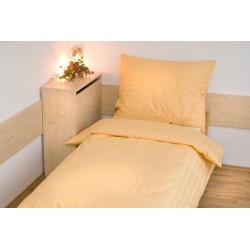 Hotelové povlečení atlas grádl 2cm proužek 140x200,70x90cm žluté