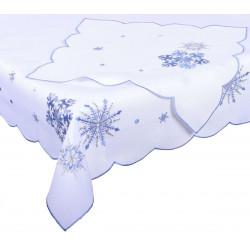 Ubrus vánoční Modré vločky více rozměrů