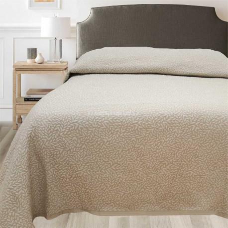 c253489c0ba5 Přehozy na postel Leaf béžový jednolůžko nebo dvoulůžko