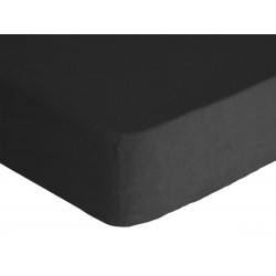 Prostěradlo, Froté Premium, černá 90 x 200 cm