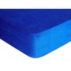 Prostěradlo, Froté Premium, tmavě modrá 100 x 220 cm