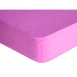 Prostěradlo, Froté Premium, fialové 70 x 140 cm