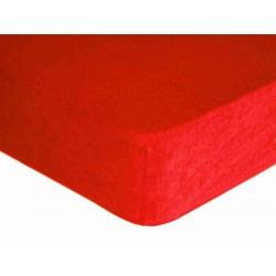 Prostěradlo, Froté Premium, červené 60 x 120 cm