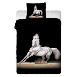 Povlečení, bavlněné, Bílý kůň 140x200+70x90