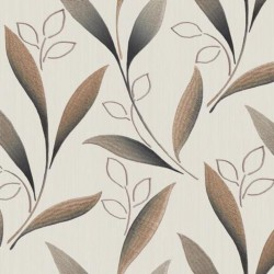Dekorační látka Listy hnědé š.150cm
