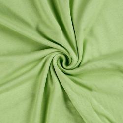 Jersey prostěradlo jednolůžko 90x200cm světle zelené
