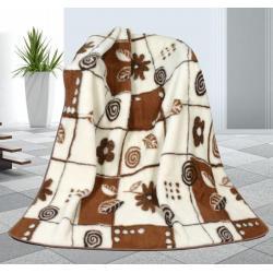 Vlněná deka 155x200cm variace - evropské merino