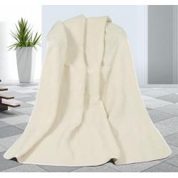 Vlněná deka 155x200cm bílá - evropské merino