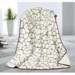 Vlněná DUO deka 155x200cm kameny - Kašmír