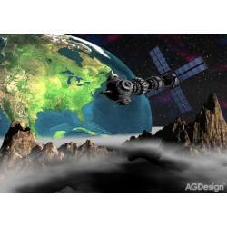 Fototapeta pohled na Zemi z vesmíru 360 x 254 cm AG Design FTS 0094