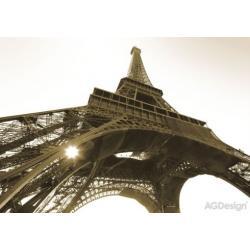Fototapeta Eiffelova věž černobílá 360 x 254 cm AG Design FTS 0172