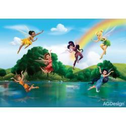 Fototapeta Disney víly u duhy 360 x 254 cm AG Design FTD 2222