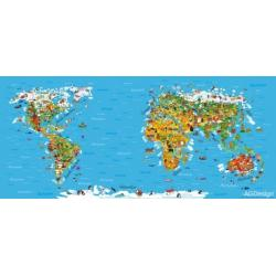 Fototapeta vliesová mapa světa 202 x 90 cm AG Design FTN H 2731