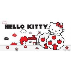 Fototapeta vliesová Hello Kitty černobílá 202 x 90 cm AG Design FTN H 2736