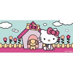 Fototapeta vliesová Hello Kitty a pes 202 x 90 cm AG Design FTN H 2737