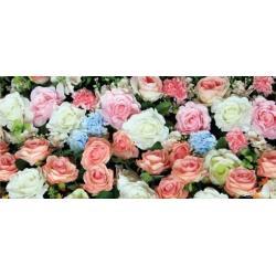 Fototapeta vliesová barevné růže 202 x 90 cm AG Design FTN H 2741