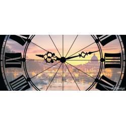 Fototapeta vliesová hodiny Řím 202 x 90 cm AG Design FTN H 2738