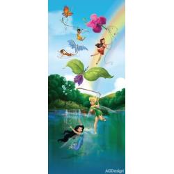 Fototapeta vliesová Disney víly u duhy 90 x 202 cm AG Design FTDN V 5457