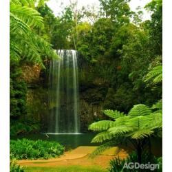 Fototapeta vliesová vodopád u jezera 180 x 202 cm AG Design FTN XL 2509