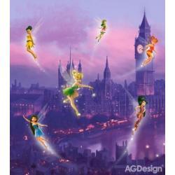 Fototapeta vliesová Disney víly v Londýně 180 x 202 cm AG Design FTDN XL 5106