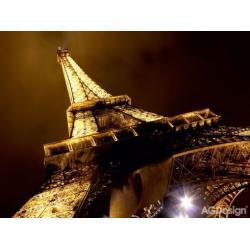 Fototapeta vliesová Eiffelova věž nasvícená 330 x 255 cm AG Design FTN XXL 0188