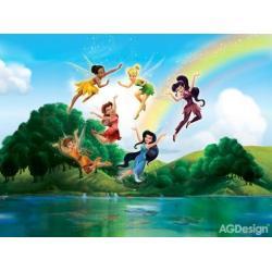 Fototapeta vliesová Disney víly u duhy 330 x 255 cm AG Design FTDN5009
