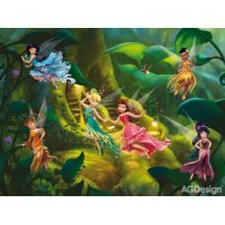 Fototapeta vliesová Disney víly 330 x 255 cm AG Design FTDN5032