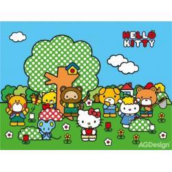 Fototapeta vliesová Hello Kitty a kamarádi 330 x 255 cm AG Design FTN XXL 2432