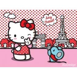 Fototapeta vliesová Hello Kitty v Paříži 330 x 255 cm AG Design FTN XXL 2433