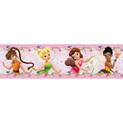 Samolepící bordura Disney Víly, 5m x 0,14m