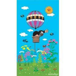 Fotozáclony krtek a balon 140 x 245 cm AG Design FCS L 7511