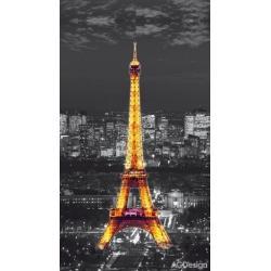Fotozávěs Dimout Paříž v noci 140 x 245 cm AG Design FCP L 6500