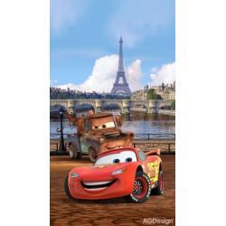 Fotozávěs Dimout Disney auta v Paříži 140 x 245 cm AG Design FCP L 6101