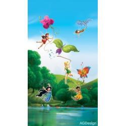 Fotozávěs Dimout Disney víly u duhy 140 x 245 cm AG Design FCP L 6103