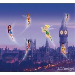Fotozávěs Dimout Disney víly v londýně 280 x 245 cm AG Design FCP XXL 6004