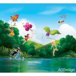 Fotozávěs Dimout Disney víly u duhy 280 x 245 cm AG Design FCP XXL 6005