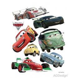 Samolepka na zeď Disney auta 2 McQueen a Francesco Bernoulli 65 x 85 cm AG Design DK 886