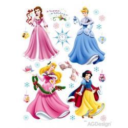 Samolepka na zeď Disney princezny slaví 65 x 85 cm AG Design DK 888