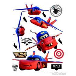 Samolepka na zeď Disney auta letí 65 x 85 cm AG Design DK 1702
