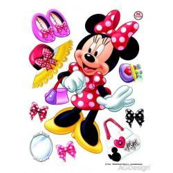 Samolepka na zeď Disney Minnie 65 x 85 cm AG Design DK 1703