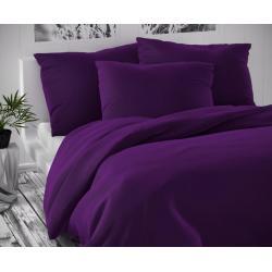 Saténové francouzské povlečení LUXURY COLLECTION 1+2, 240x200, 70x90cm tmavě fialové