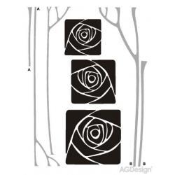 Samolepky na zeď růže v rámečku 65 x 85 cm AG Design FL 0478